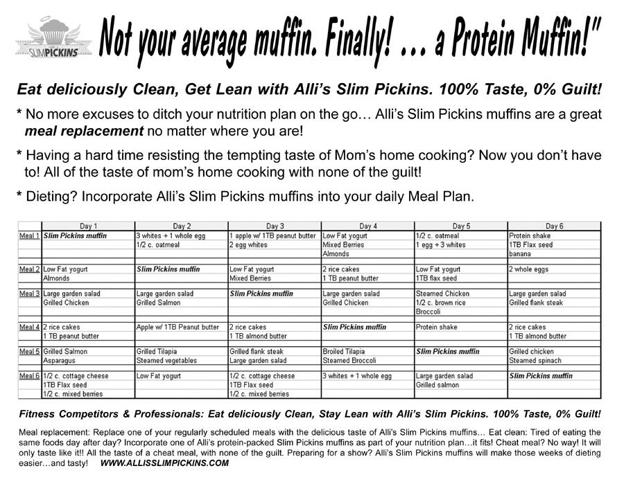 Meal Plans, Recipes, and Tips  Alli\u0027s Slim Pickin\u0027s