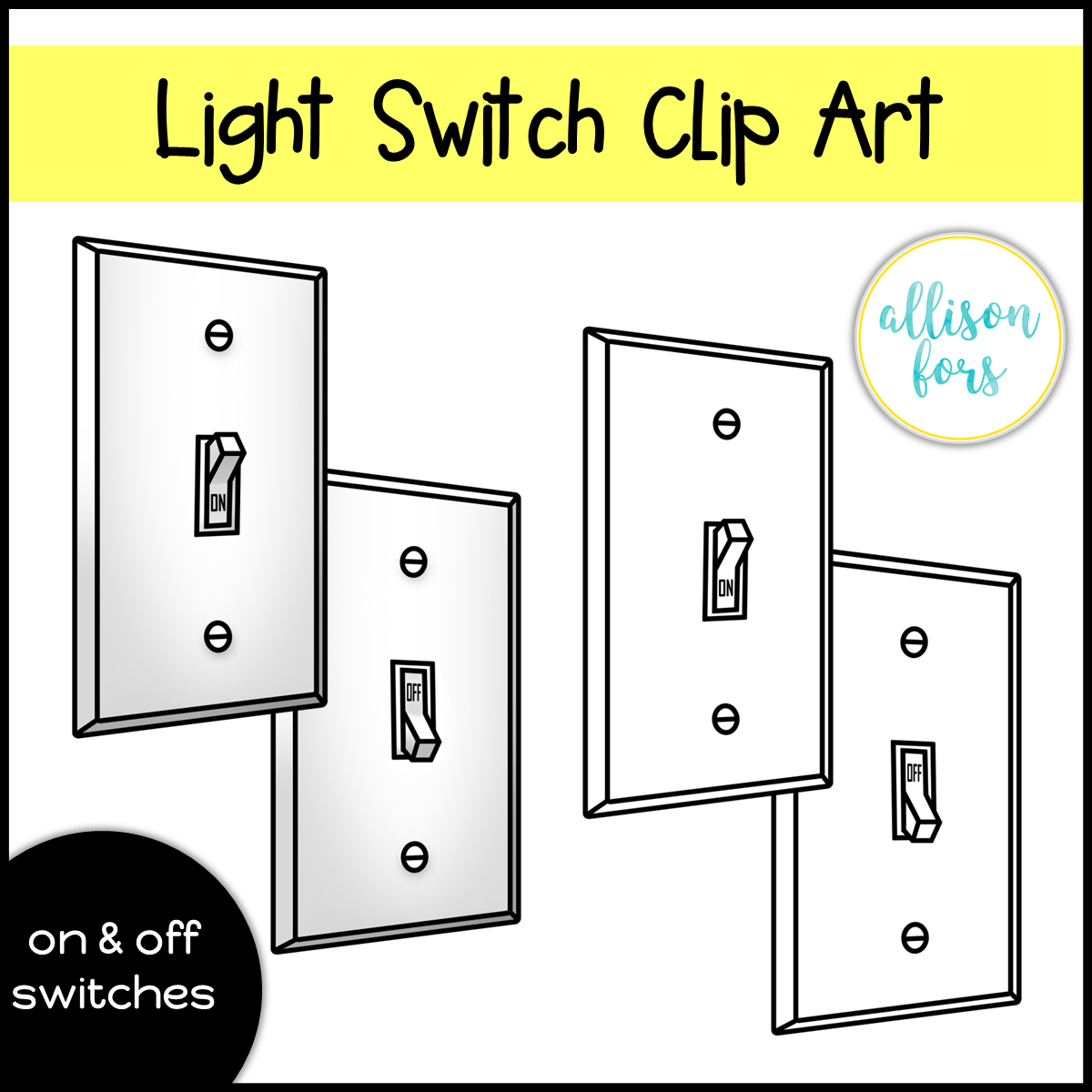 Light Switch Off Clipart Exclusive Light Switches Clip Art Allison Fors