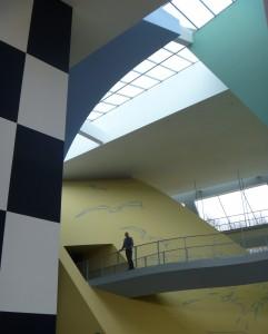 Herge Museum interior