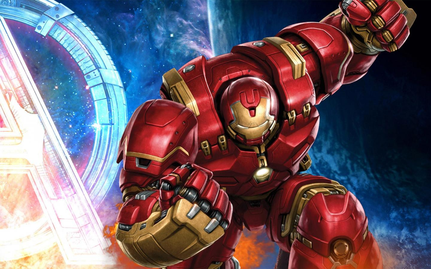Marvel Superheroes 3d Wallpapers Iron Man Hulkbuster Mark Xliv Wallpaper Hd Wallpapers