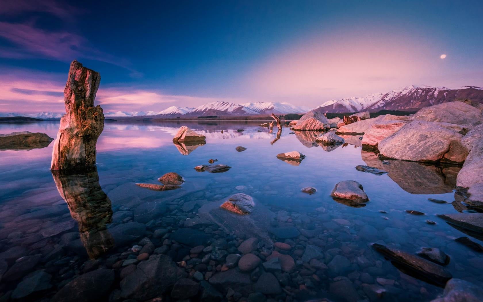 Evening Wallpaper With Quotes Evening Sunset Over Lake Tekapo New Zealand For Desktop
