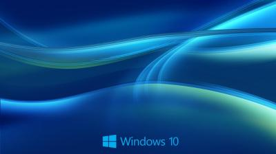 Windows 10 Wallpaper HD in Blue Abstract with New Logo ...
