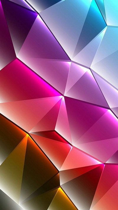 Cool Phone Wallpapers 01 of 10 with Colorful 3D Triangles - HD Wallpapers | Wallpapers Download ...