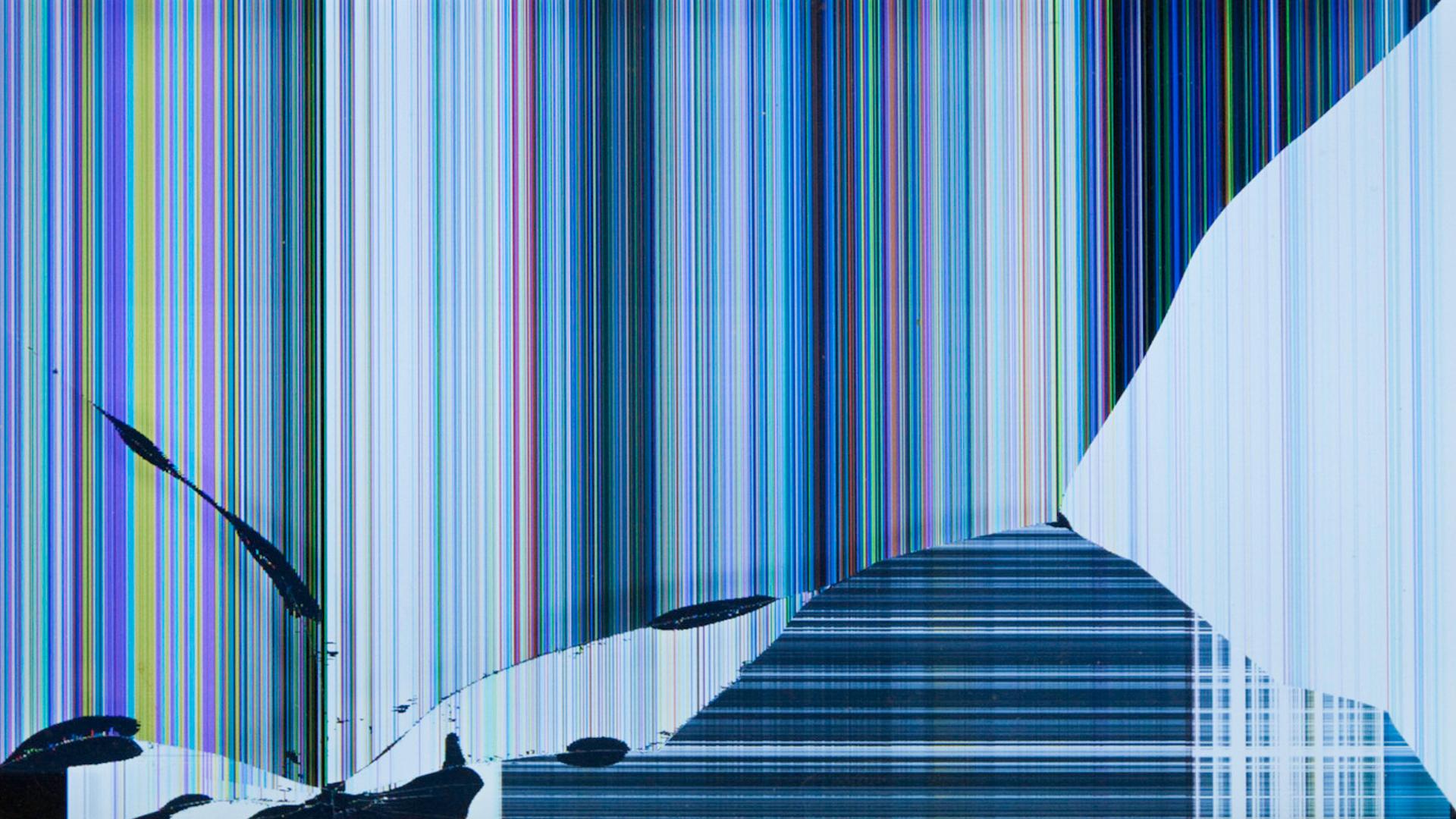 3d Broken Glass Wallpapers Fake Broken Lcd Screen For Laptop Background 15 Of 49