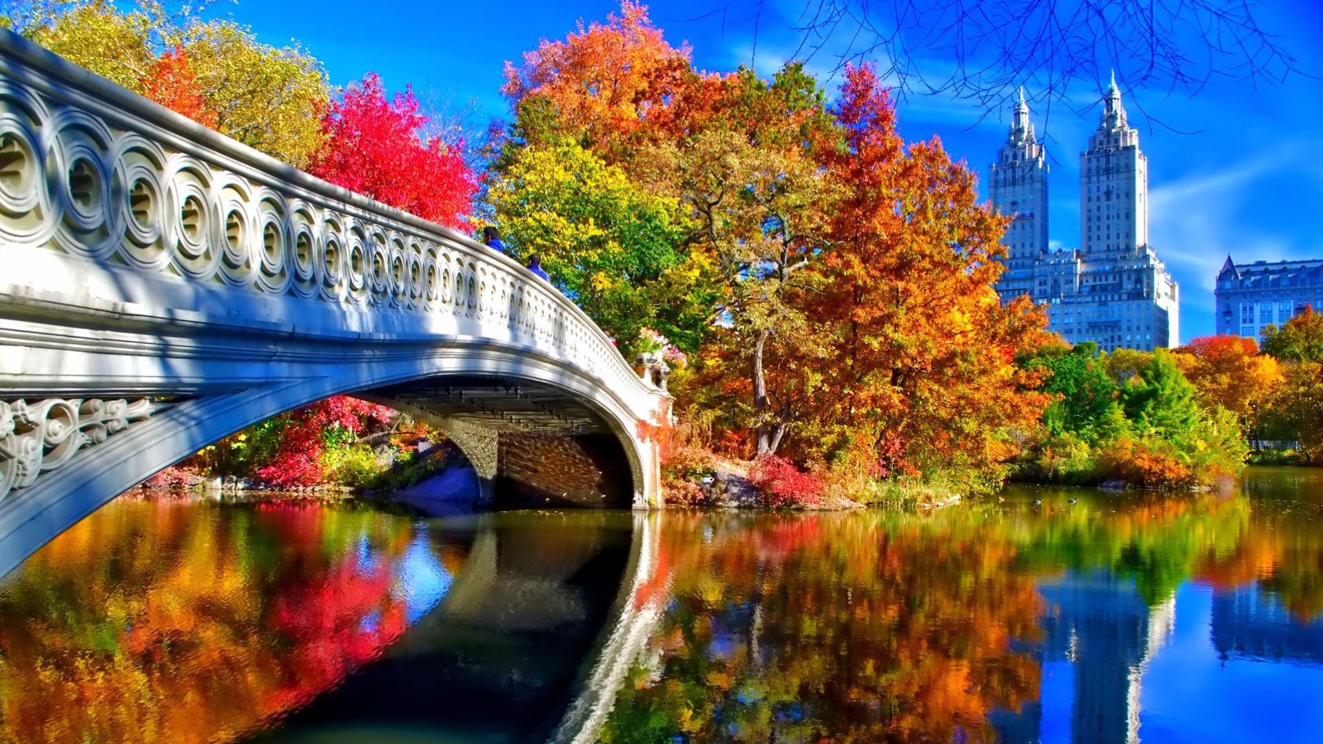 Fall Foliage Wallpaper 1920x1080 Autumn In New York Desktop Wallpaper In 1920 215 1080 Hd