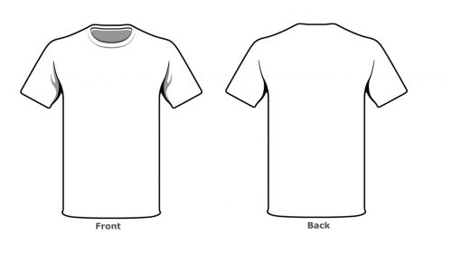 Blank Tshirt Template Front Back Side in High Resolution HD - t shirt template