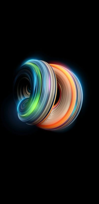 Examples of Abstract Art Wallpaper for Samsung Galaxy Note 8 Background with Colorful 3D Light ...