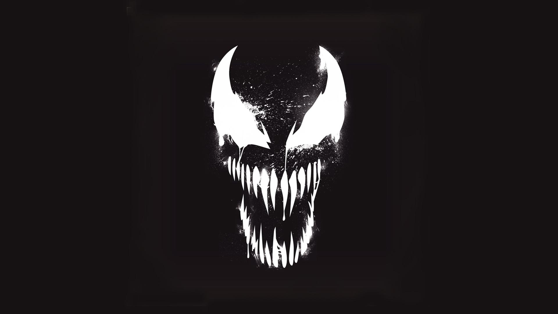 Sick Iphone Wallpapers Hd Venom Marvel Artistic Logo With Dark Background Hd