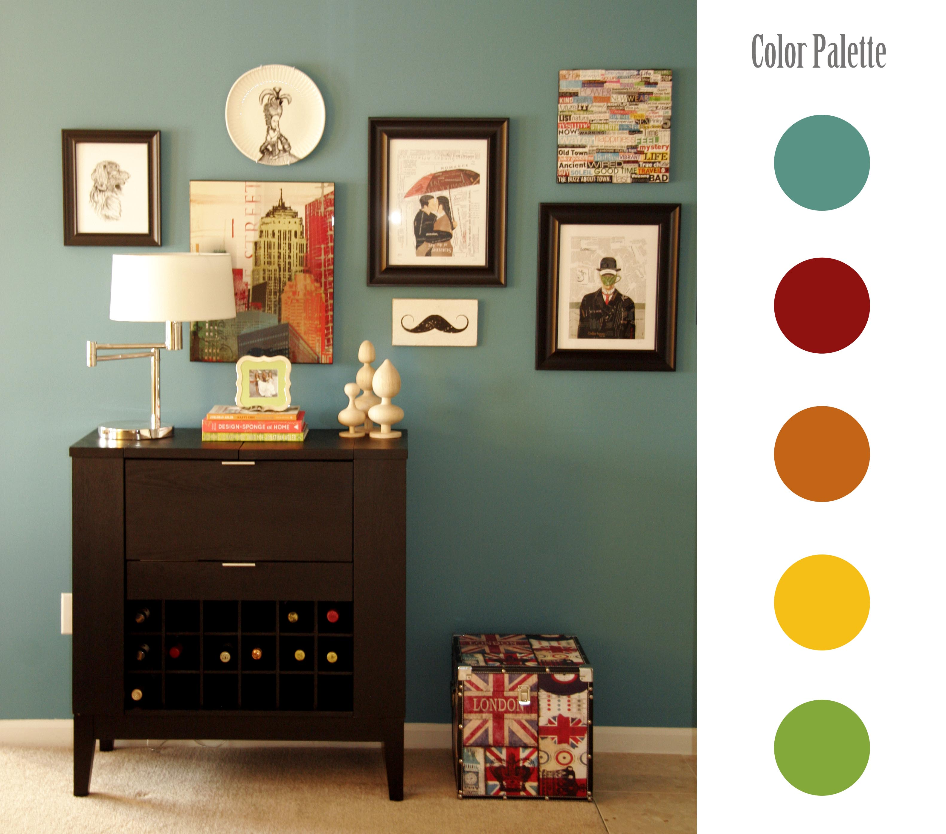 Interior Design Colour Palettes Wall Art All Put Together