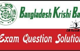 Bangladesh Krishi Bank Exam Question Solution 2017