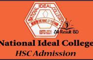 National Ideal College HSC Admission Result Notice 2016