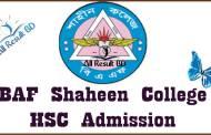 BAF Shaheen College HSC admission Notice Result 2016