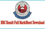 Get HSC Result Full MarkSheet 2016 Bangladesh