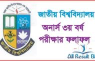 National University Honours 3rd Year Result 2013