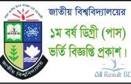 National University Degree Pass Admission Notice 2016-17