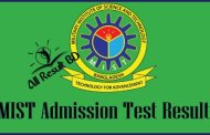 MIST Admission Test Result 2015-2016 Published