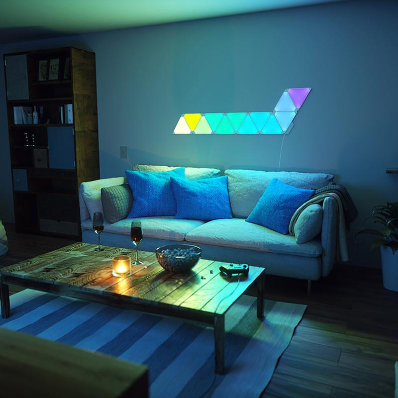 Gaming Schreibtisch Test: Nanoleaf Aurora Light Panels - Allround-pc.com