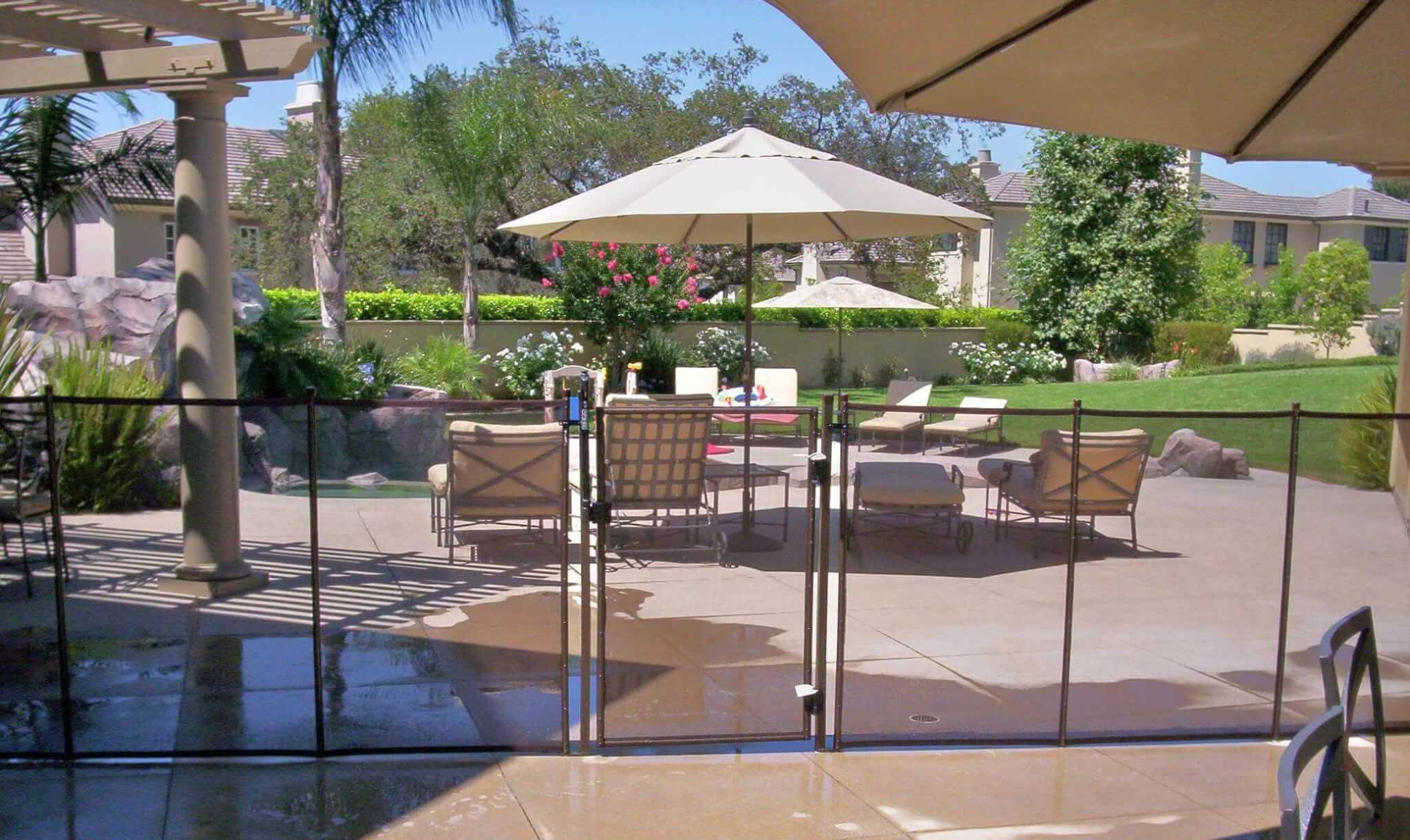Ultra Mesh Portable Pool Fence All Safe Temporary Pool - Portable Fence