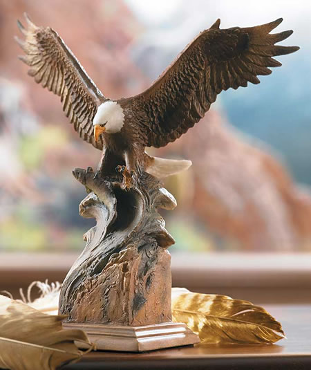 Eagle Products Splash Down Bald Eagle Sculpture, Mill-creek-studios-all