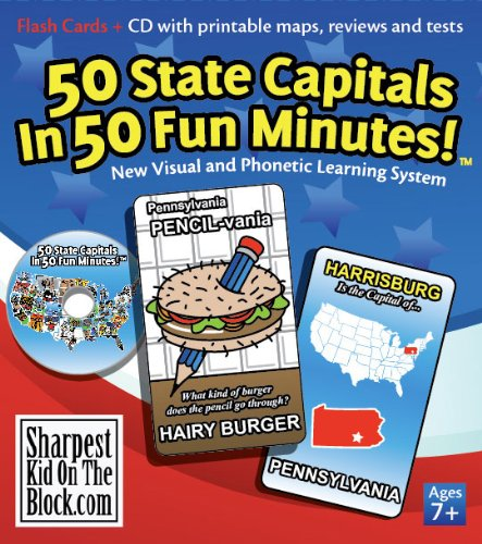50 State Capitals Flashcards - Shark Tank Products