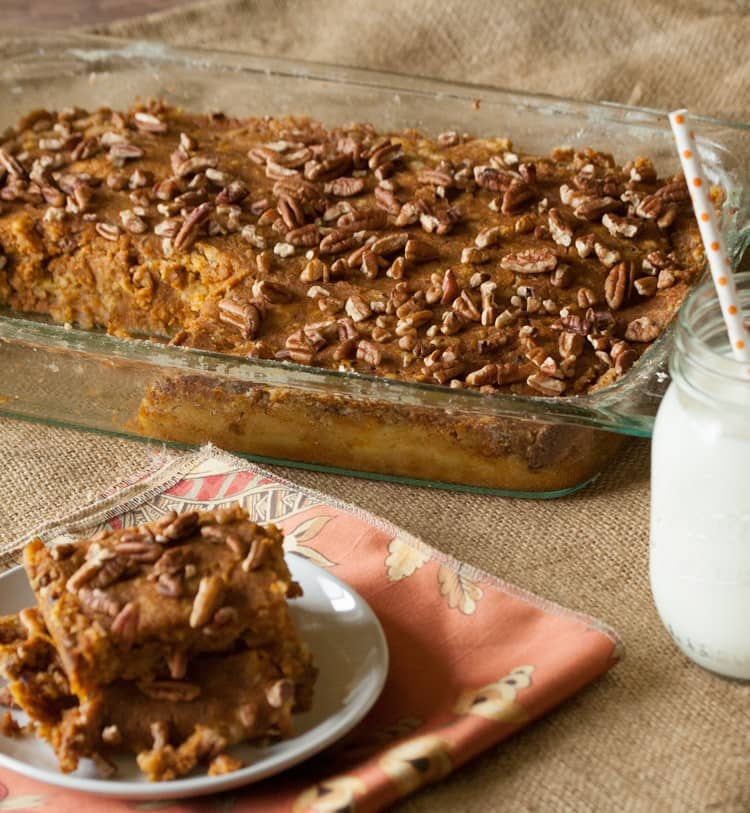 Pumpkin Dump Cake. Looking for a pumpkin pie alternative for the holiday? You've got to try this Pumpkin Dump Cake Recipe. It's easy to make and tastes so good! This is one pumpkin dessert recipe you have to try.