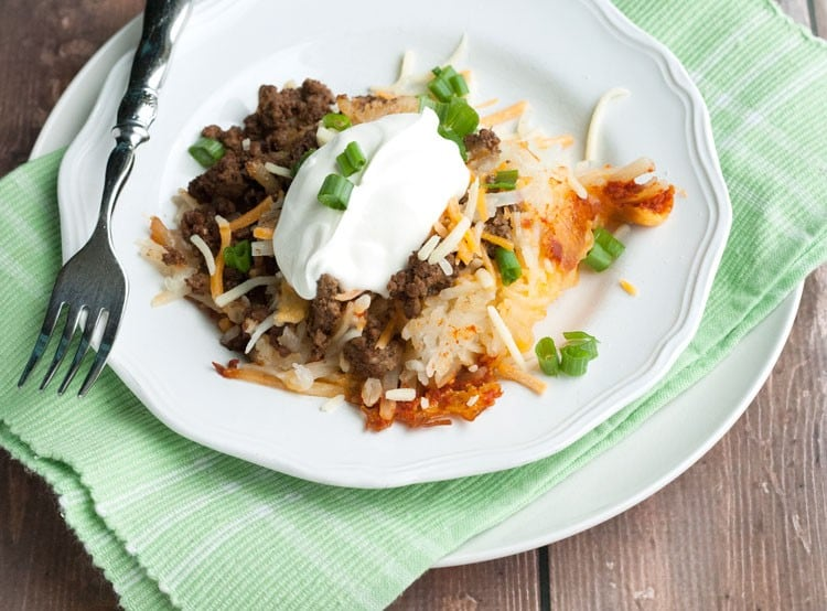 Slow Cooker Spicy Taco Baked Potatos