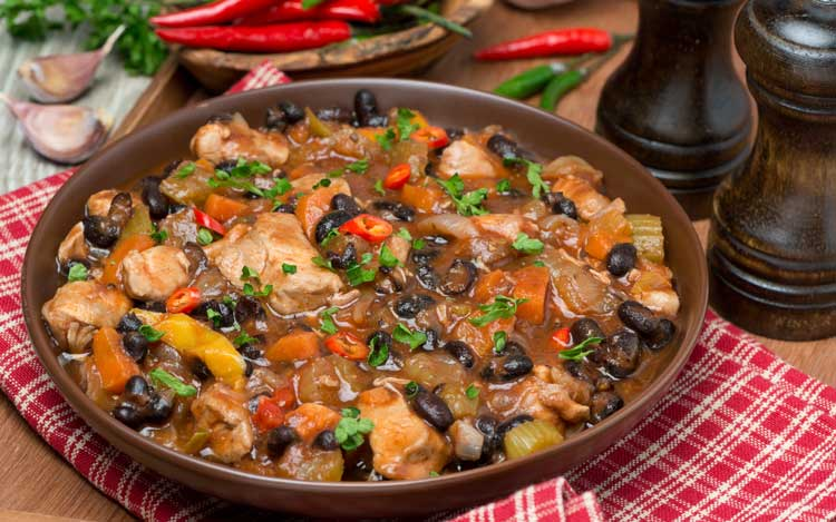 healthy black bean and chicken chili