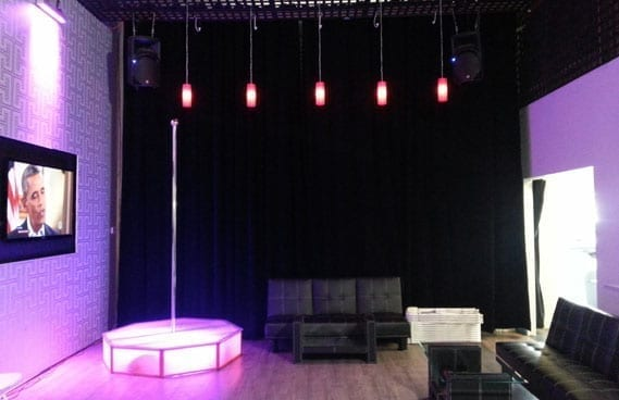 Professional Lighting Kit For Video Miami - All Star Stages™ Portable Dance Pole Rentals