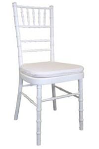 White Chiavari w/ White Chair Pad | AllStar Tents and Events