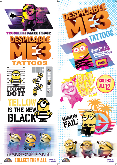 Despicable Me Tattoos Series #3