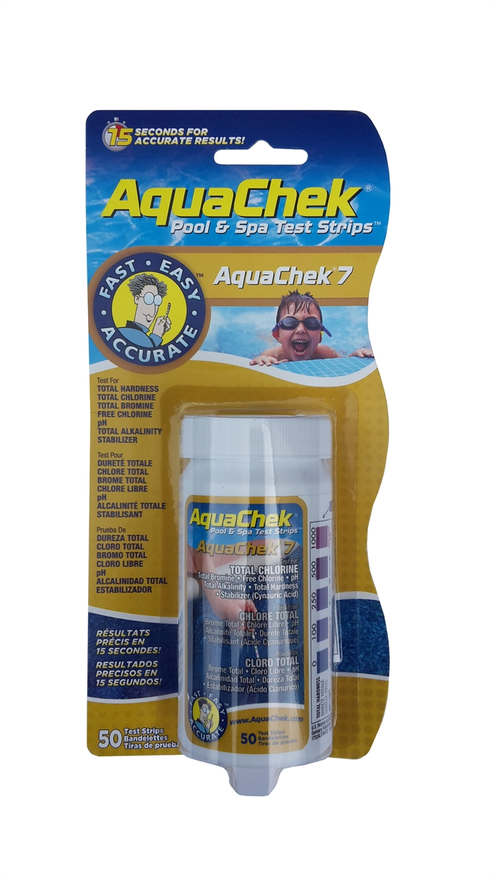 Chlor Pool Test Aquachek 7 Pool Spa Test Strips