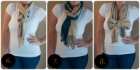 10 ways to wear a scarf | All That Glitters