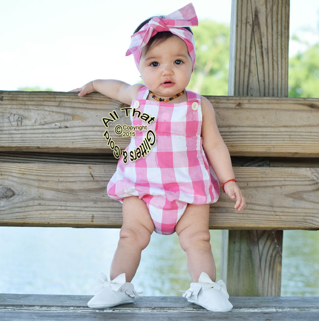 Pink or Black Plaid Baby Girls Tank Sleeveless Bodysuits Rompers