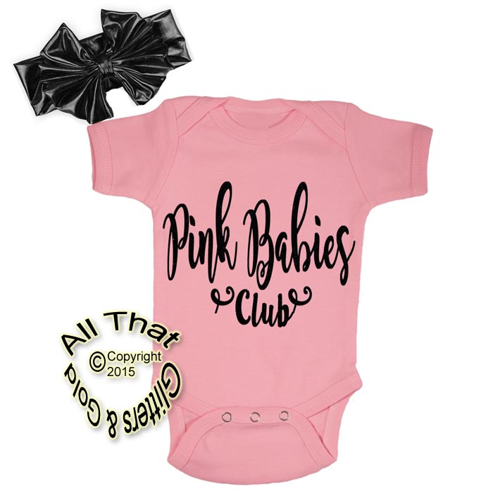 Cute Baby Girl Clothes Outfits - Grease Pink Ladies Glitter Coming