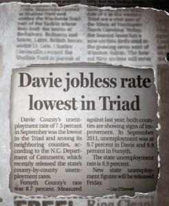 Davie High Jobless Rates