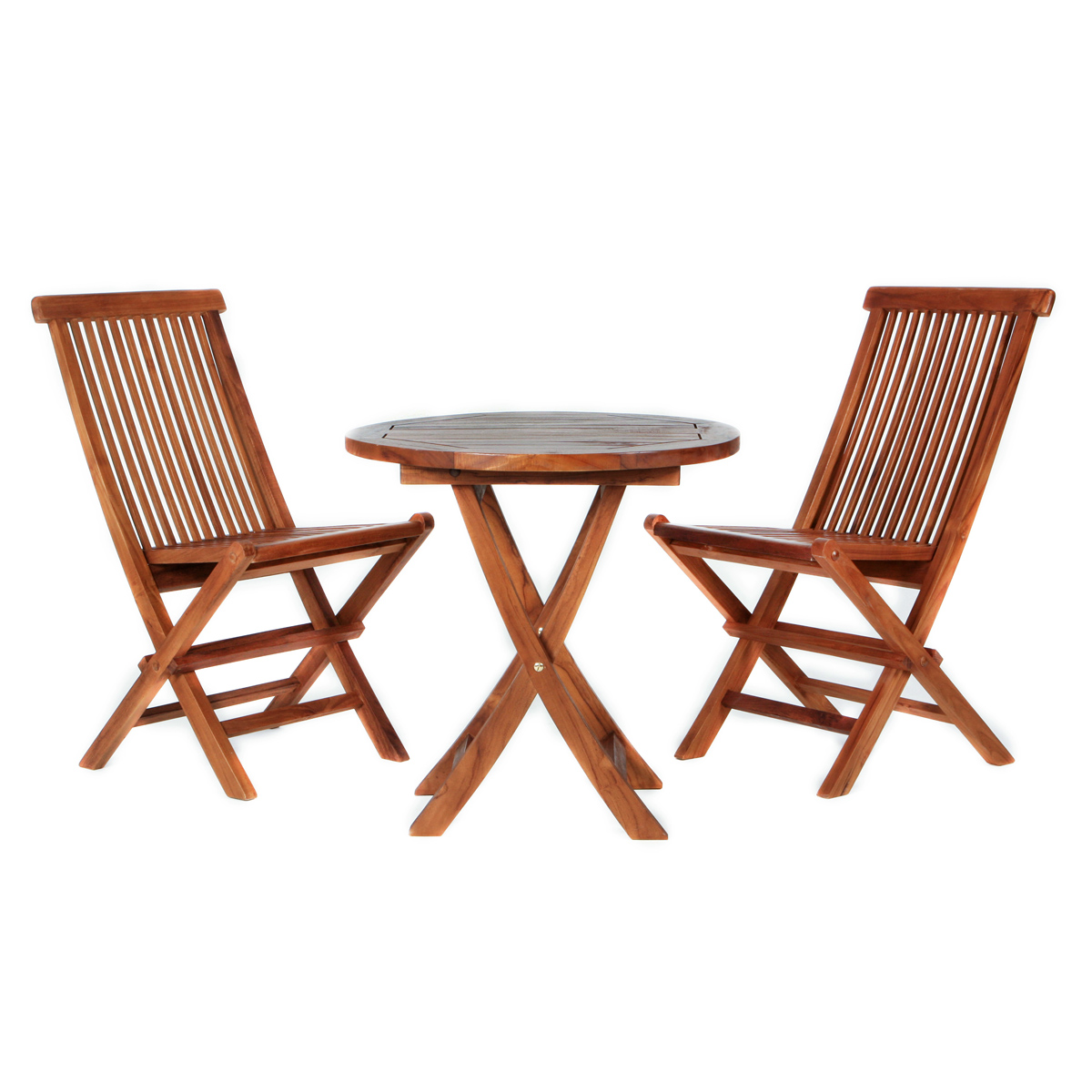 All Things Cedar Folding Chair Teak Table Patio Outdoor Furniture