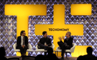 Sean Parker and Jim Breyer with Techonomy host David Kirkpatrick
