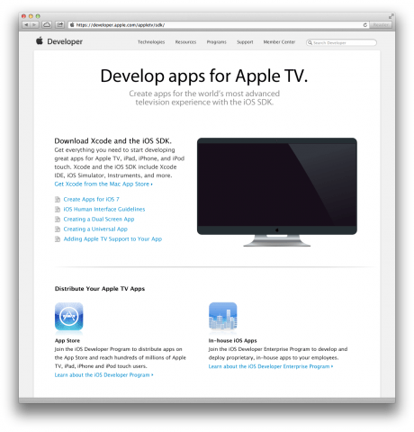 Apple.com developer sdk pages