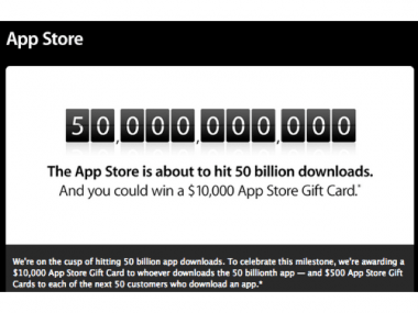 Apple App Store Nears 50 billion downloads-feature