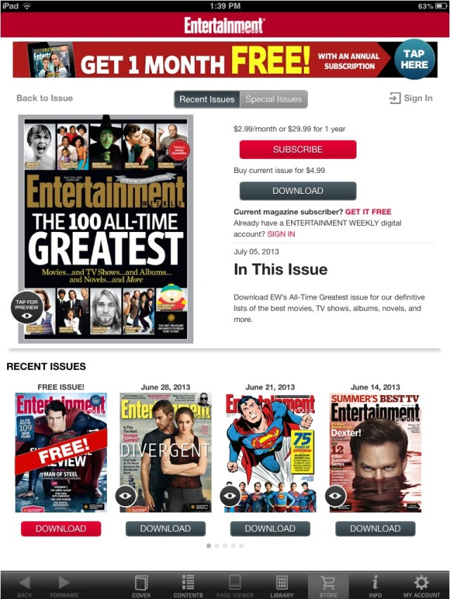 Time Inc. old iPad iTunes EW