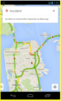 Google Adds Waze Incident Reports to Google Maps for iOS and Android Liz Gannes Mobile AllThingsD