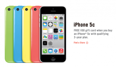 RadioShack's iPhone 5c promotion