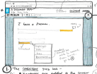 A sketch for the design of the new Google Drive integration in Gmail