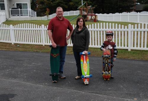 skateboarding family