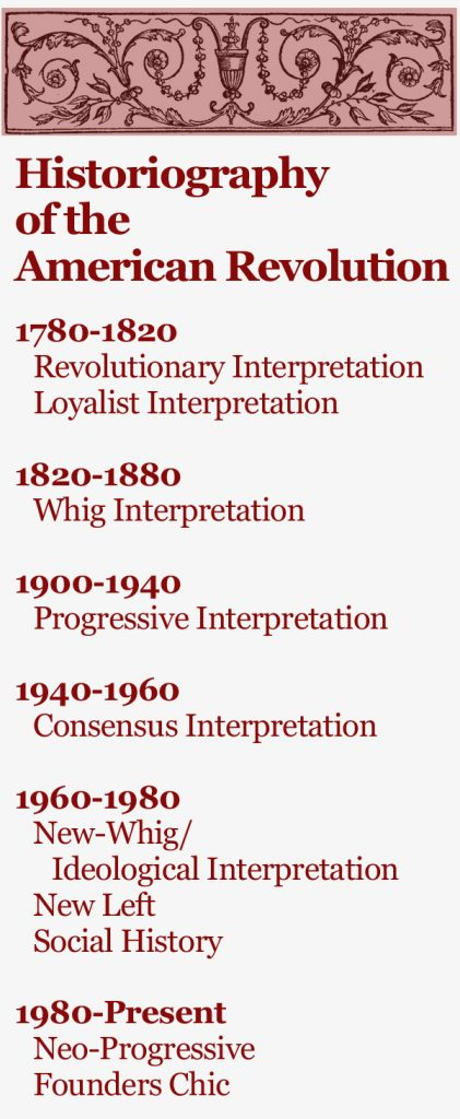 The Historiography of the American Revolution - Journal of the