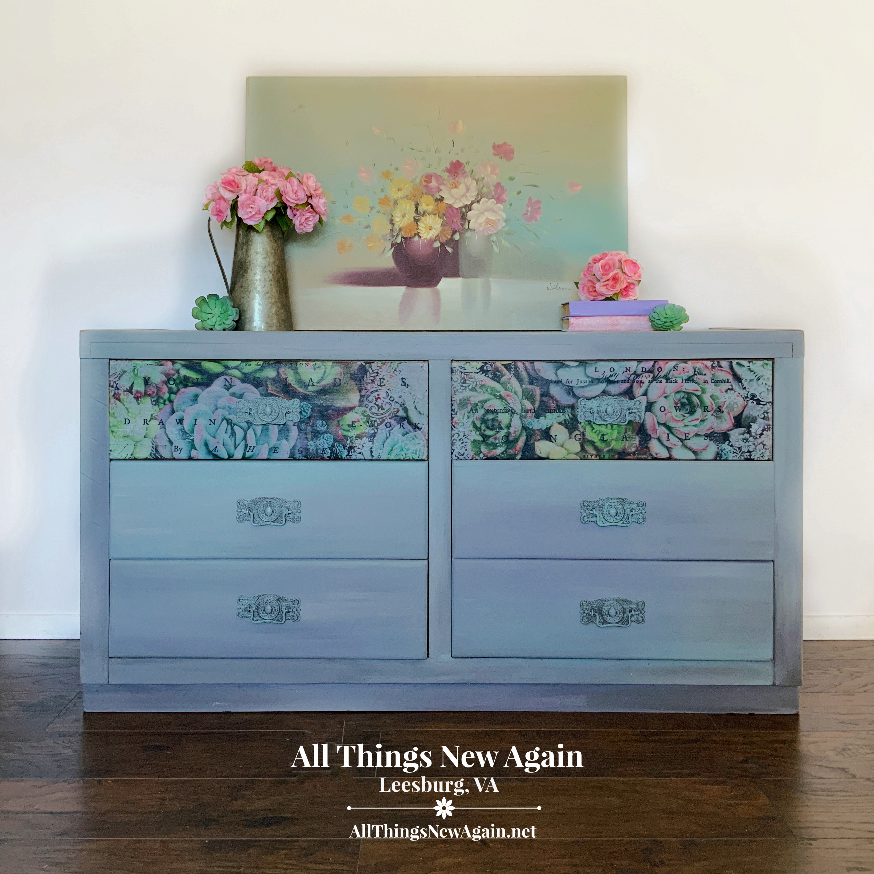 Rustic Gray Dresser All Things New Again Painted Furniture For Sale