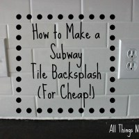 How to Make a Subway Tile Backsplash (For Cheap!)