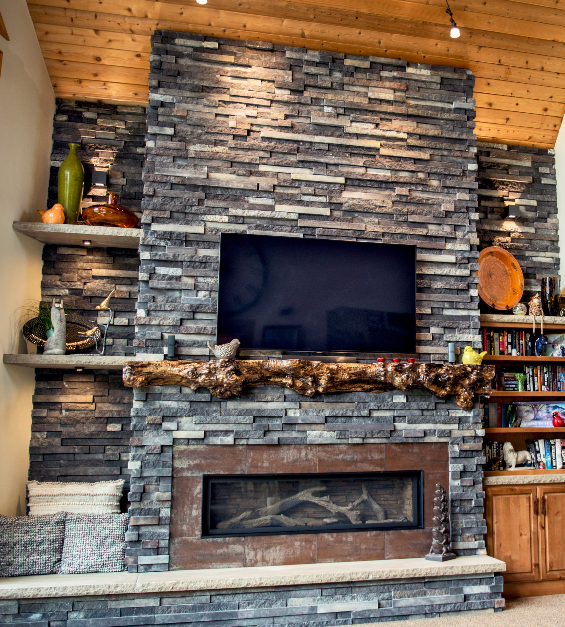Installing Cultured Stone Fireplace Pro Fit Terrain Ledgestone From Cultured Stone Canadian Stone