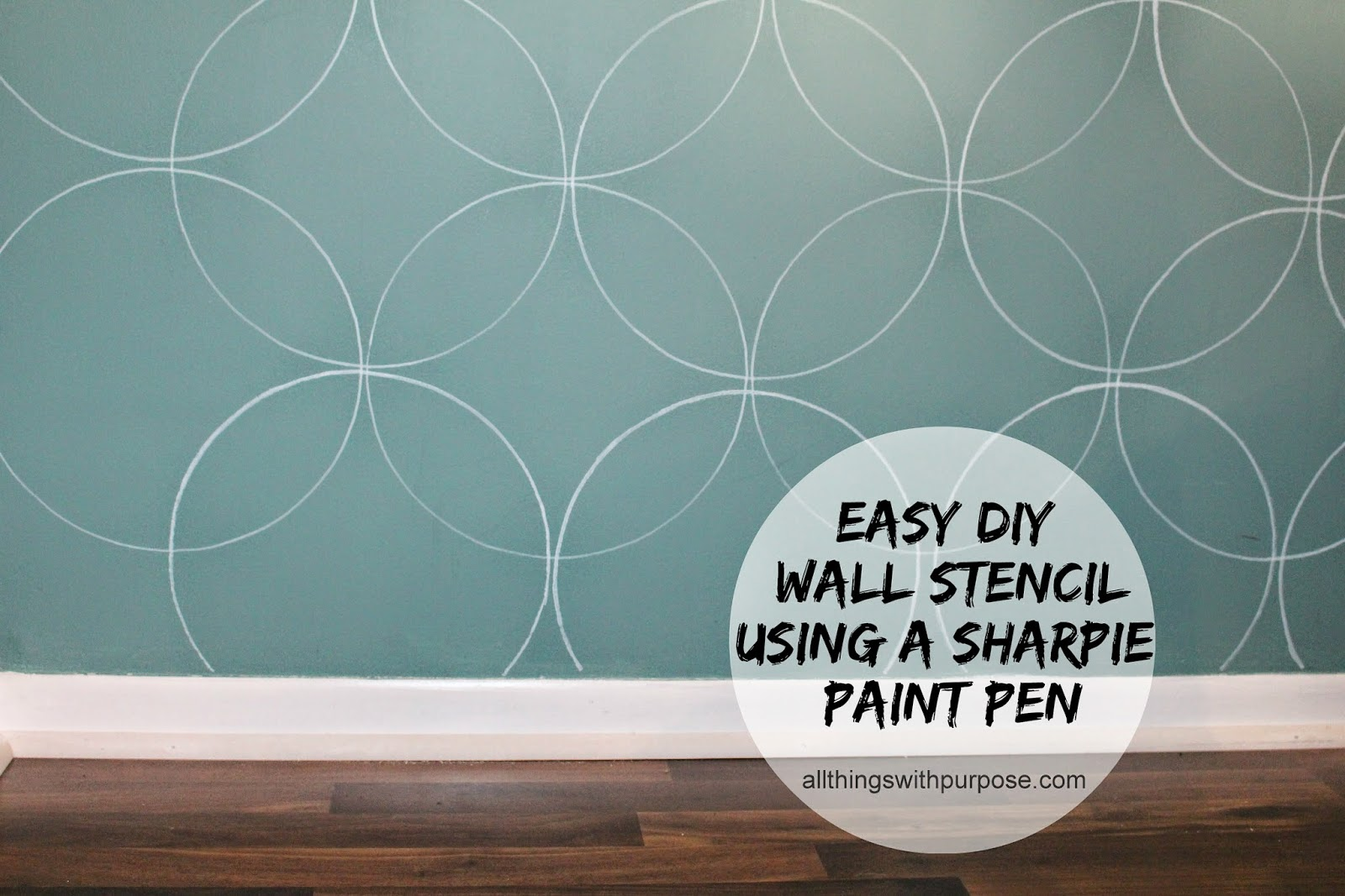 Simple Wall Designs Stencils Easy Diy Wall Stencil With A Paint Pen