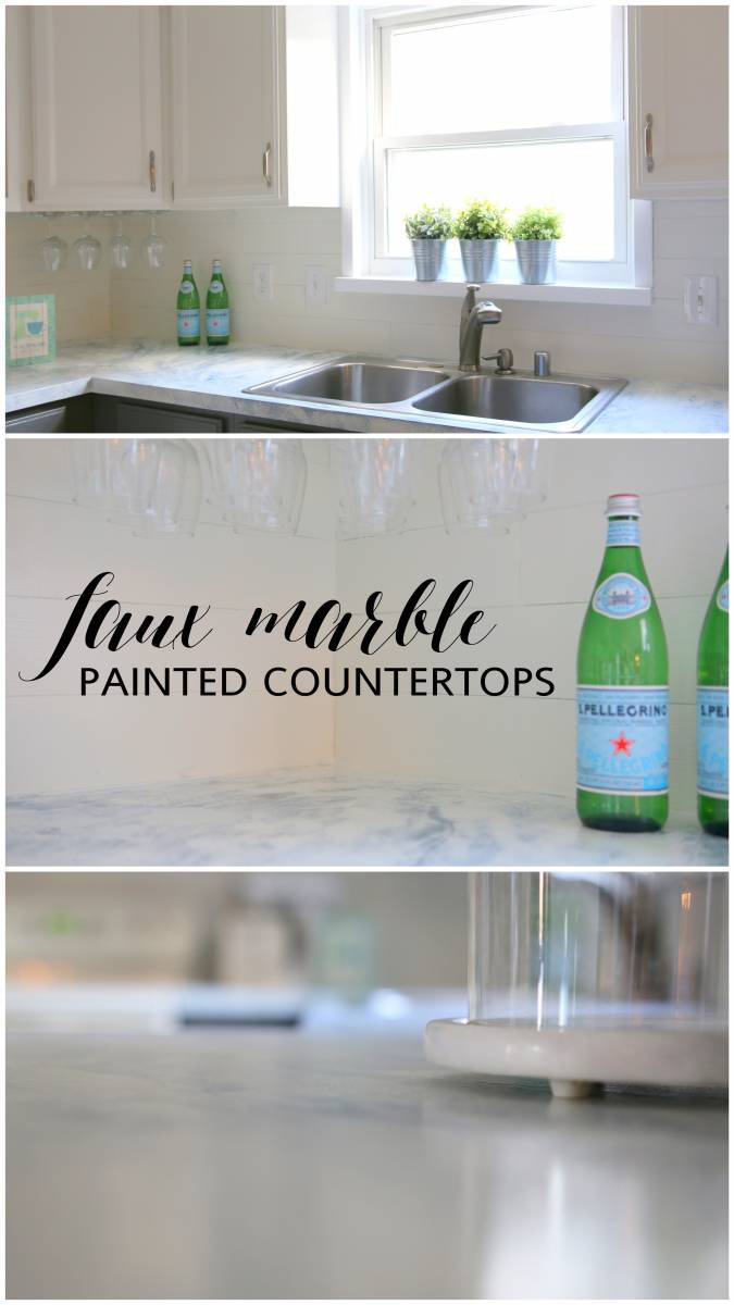 Faux Marble Painted Countertops All Things With Purpose